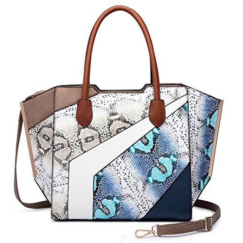 Miss Lulu, Borsa a mano donna 6637 Coffee
