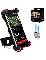 Universal-Rad-Handyhalter #1 Rad-Handyhalter   Rad-iPhone-Halter / iPhone 6-Halter fürs Rad   Rad-Handyhalter + GRATISGESCHENKE - 2x Reifen-LED-Licht – Sportrad-Geschenke, die Männer & Frauen lieben