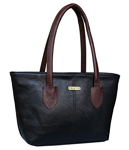 Fristo Women's Handbag (Black and Tan)