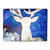 SE7VEN Alfombra de grifon Azul Alfombras de sofá Simple Sala de Estar Dormitorio Rectangular mesilla de Noche-A 100x150cm(39x59inch)
