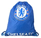 Chelsea FC Lion Blue White Printed Gym Fitness Bag Club Badge Crest Official
