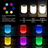 Bluetooth LED Lautsprecher-Lampe, Smart Touch Control dimmbare Lampe mit RGB Farbe, Geschenk für kinder und Erwachsene, Nachttischlampe Lybardo Qualität, perfekter Klang, toller Bass-Effekt,
