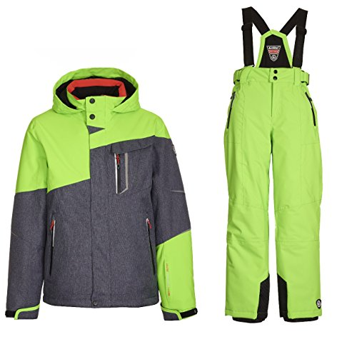 Killtec Skianzug Nibal für Jungen und Mädchen Wasserdicht, Winddicht und Gute Passform, Farbe:Grau, Kinder Größen:140   04061393025106