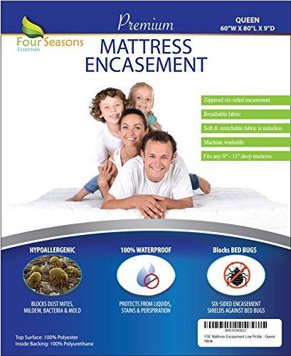Four Seasons Essentials Matratze umgreifung, Polyester, weiß, Queen