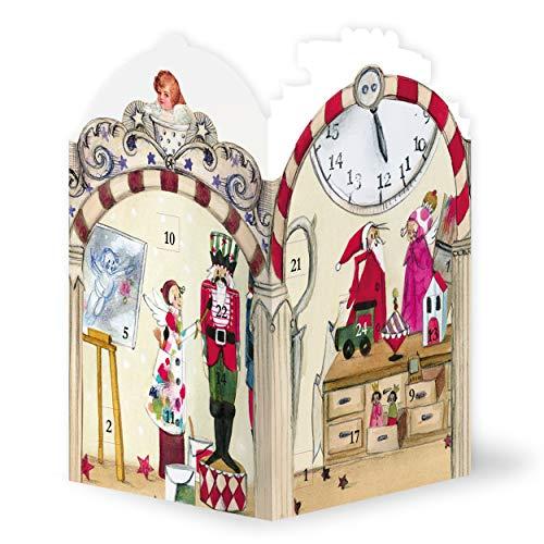 Adventskalender leuchtet mit Teelicht, Adventskalender Elfenwerkstatt für Teelicht, zauberhafte...