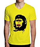 Planet Of The Apes Che Guevara Monkey Design Mens V-Neck T-Shirt