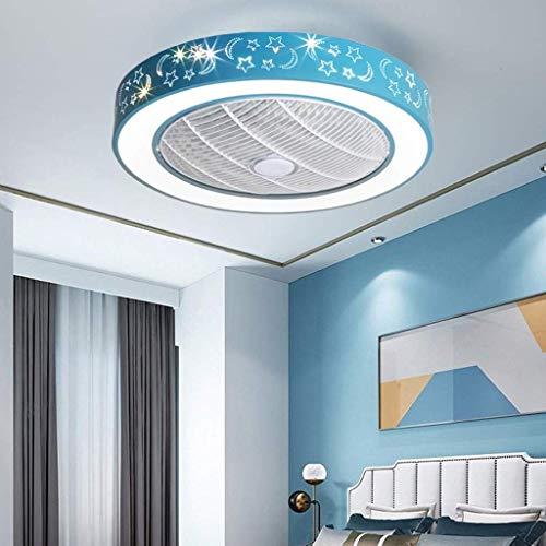 Ganeep Dormitorio Luz de Techo for niños LED Ventilador Lámpara de Techo Regulable Creativo Invisible...