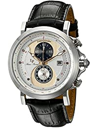 amazon co uk lucien piccard watches lucien piccard men s quartz watch silver dial analogue display and black leather strap lp 40015 02s ra cp