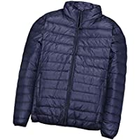 8c1e4cca22c94 Deylaying Men Lightweight Duck Down Jacket Sports Windproof Short Parka  Overcoat Plus Size