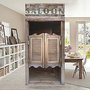 fl chenvorhang set wild west saloon 250x120cm schiebegardine schiebevorhang raumtrenner. Black Bedroom Furniture Sets. Home Design Ideas