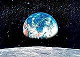 Fototapete EARTH MOON 388x270 Erde Mond Weltall Universum All Sterne Mondlandung