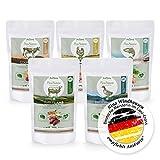 AniForte 100% Natur Trockenfutter Probierpaket 5 x 500g Hundefutter Getreidefrei - Lachs, Rind, Huhn, Lamm und Ente- Adult Futter - OHNE Chemie, OHNE künstliche Zusatzstoffe oder Vitamine