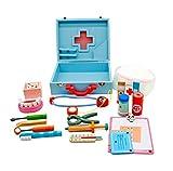 Aga4Kids Kinderspielzeug Doctor Set, Rollen-Spielzeug, Holz Spielzeug