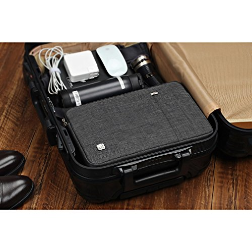 NIDOO 14 Zoll Wasserdicht Laptop Sleeve predicament Notebook Hlle Schutzhlle Tasche Schutzabdeckung Laptoptasche fr 14 HP approach 14 2017 Lenovo ThinkPad X1 Yoga 14 ThinkPad A475 Laptop Dunkelgrau Hllen