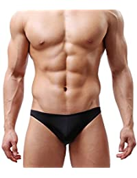 ajim negozio (TM) Hombre 3-Pack Soft Thongs transparente ropa interior de cintura