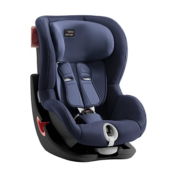 Britax Römer King II Black Series Group 1 (9-18kg) Car Seat - Moonlight Blue  Easy installation - with tilting seat and patented seat belt tensioning system Optimum protection - performance chest pads, deep, padded side wings 4