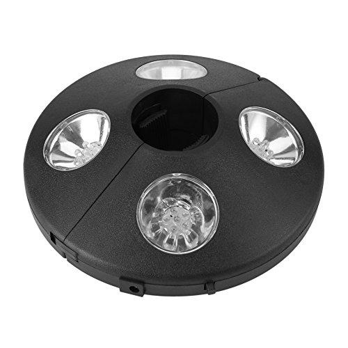 Fdit Patio Sonnenschirmbeleuchtung Nachtlampe Nachtlicht Camping Regenschirm Pole Light 24 LED Batterie betreiben Außenzimmer Zelt Pole Montiert oder Hung