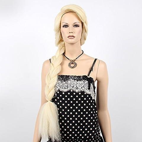 Stfantasy des Perruques pour femme longue ligne droite chaleur Conviviale Cheveux synthétiques 99,1cm 288.9G Braid Perruque Peluca gratuit Cheveux Net + Clips Blond