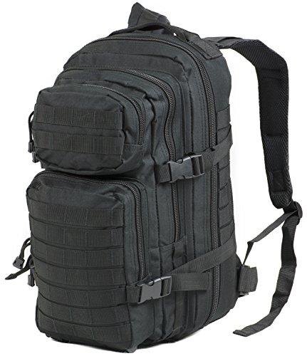 Nitehawk - Sac à dos multifonction avec système d'attache MOLLE - style militaire - 30 L - Noir