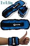 BodyRip Gewichte für Handgelenk/Knöchel, sandgefüllt, 32cm/je 0,5kg, 2 Stück
