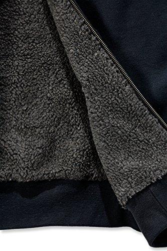 Carhartt 100072 Colliston Brushed Fleece Sherpa Lined Sweatshirt - Arbeits-Kapuzenjacke Schwarz