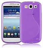 Cadorabo Samsung Galaxy S3 / S3 Neo Custodia Silicone TPU Disegno S in Lila Orchidea Morbida Cover Protettiva Super Sottile con Bordo Protezione Back Case Ultra Slim Gel Bumper Fina Antiurto Guscio