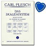 Carl carne–Il sistema di scale–Scala esercizi, grazie alle e Moll tonarten etueden per violino–Clip a forma di cuore con colorato note