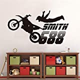 haotong11 Dirt Bike Motocross Motorrad Wandaufkleber Jungen Room Home Decor Vinyl Wandtattoo Art Home Decoration105 * 58 cm