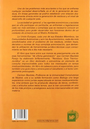 RESIDUOS. GUÍA TÉCNICO-JURÍDICA (Medio Ambiente)