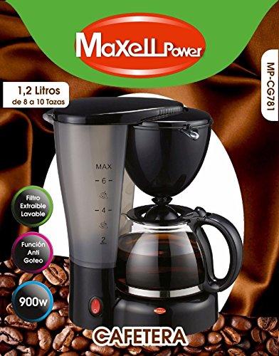 Maxell Power CE CAFETERA DE Goteo ELECTRICA Cafe Americano Express Extraible 8 10 Tazas 1,2L 900W
