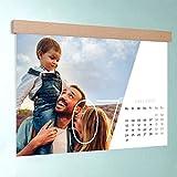 Foto Kalender gestalten online, Quer durchs Jahr, Wandkalender DIN A3: 420 x 297 mm mit edler Holzblende, Fotokalender 2017