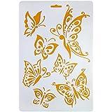 Stencil Plastic Fly Butterfly 2 Set