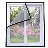 ECYC DIY Fenster Insektenschutz Anti-Moskito-Fenster Moskitonetz unsichtbar mit Magic Sticker (Grau, 200x160cm)