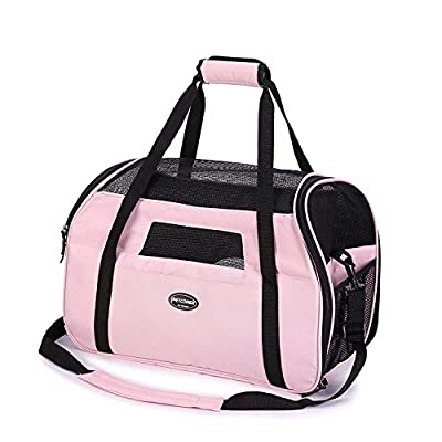 Kaka mall Soft Sided Airline Approved Portable Pet Carrier for Dogs Cats Comfort Travel Bag from Kaka mall