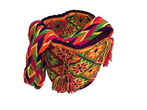 Imagen de  wayuu  bolso cruzados de algodón para mujer large, color multicolor, talla large