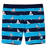 Schiesser Jungen Shark Fever Bade-Shorts Badeshorts, Blau (Admiral 801), Herstellergröße: 116