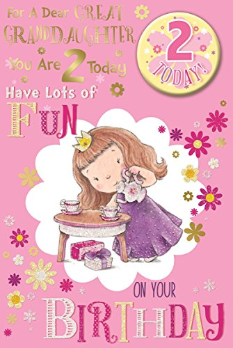 Great Granddaughter 2nd Birthday Card Badge