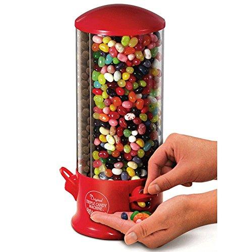 Distributeur Bonbons Chewing-gum Cacahuètes - X3 Compartiments - 29 X 13 cm