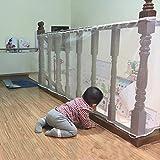 ISITO Sicherheitsnetz für Kinder, langlebig, wetterfest, wasserdicht, verstellbar, für Kind/Baby / Kleinkind für Balkon und Treppengeländer 3M