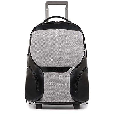 Piquadro Coleos Roller Case, Black (Nero) - roller-suitcases