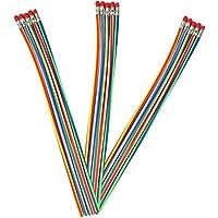 COM-FOUR® Lápiz mágico flexible ideal para niños, grado 2B (15 piezas - 30 cm)