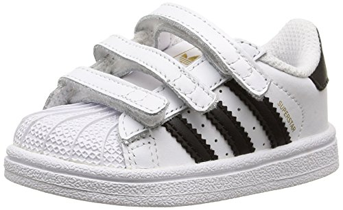 adidas - Superstar Foundation, Sneakers a collo basso infantile, Multicolore (Ftwwht/Cblack/Ftwwht), 24