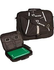 Cawila 00491051 - Bolsa de deporte de tipo maletín (incluye accesorio de balonmano 31 x 43 x 4 cm 1 l) color negro