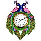VK Collection Wall Clocks For Living Room, New Wall Clock, Wall Clock For Bedroom Stylish, Wall Clock For Office, Wall Clock For Gifts, Stylish Wall Clock Digital Print (with Glass) Green::Pink::Blue
