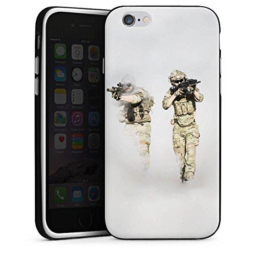 Apple iPhone X Silikon Hülle Case Schutzhülle Soldaten Einsatzkommando Soldat Silikon Case schwarz / weiß