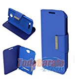 Funda libro iman AZUL Alcatel One Touch POP C7