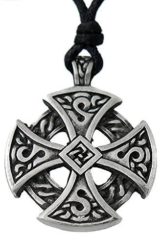 Pendentif celtique croix celtique symbole de vie etain celte breton breizh