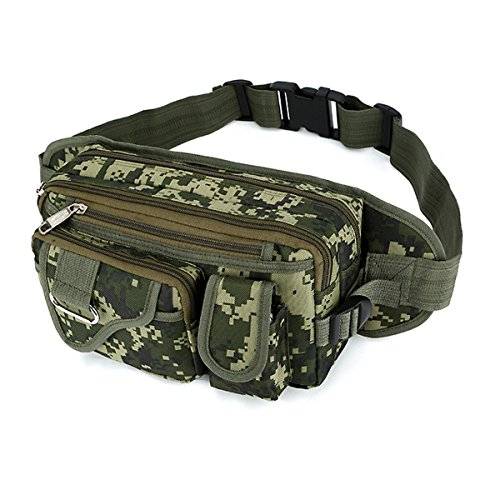 a8813fede4 SUNSEATON Bum Bag for Men, 4 Separate Compartments with Zipper, Large  Capacity Fanny Pack