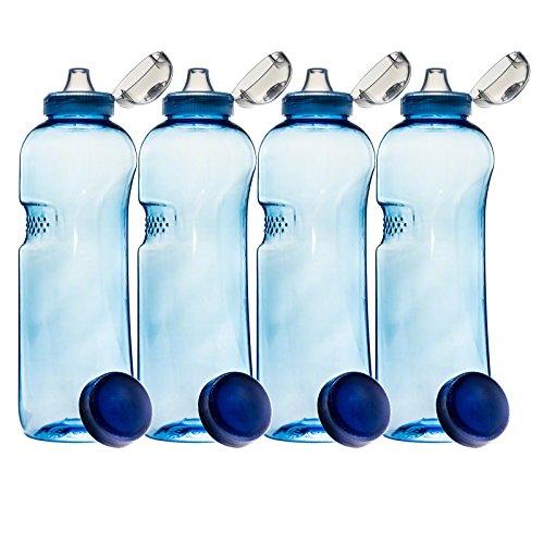 4er SET mit Sport-Deckel - Trinkflasche aus Tritan 1,0 Liter 410201 Sport Kinder Kavodrink BPA frei Wasserflasche