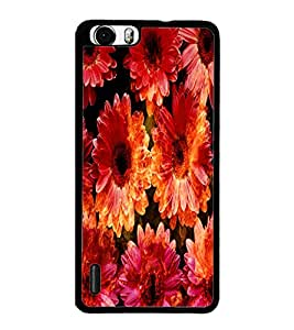 PrintDhaba Flowers D-2819 Back Case Cover for HUAWEI HONOR 6 (Multi-Coloured)